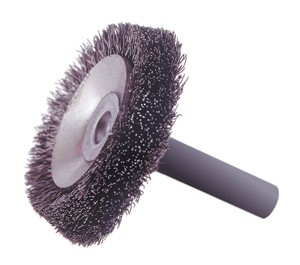 concave wheel brush