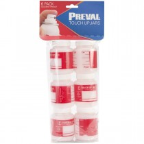Preval Paint Sprayer 3oz Plastic Bottle 6pk - PRE 0271-1