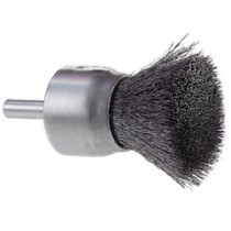 """Osborn 1"""" Stainless Steel Crimped Wire End Brush 12pk - 30083"""