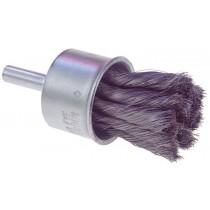"Osborn 1"" Stainless Steel .01"" Wire Diameter End Brush 12pk - 30440"
