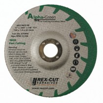 Rex-Cut 4-1/2x.040x7/8 Alpha Green TY27 Cut-Off Wheel 50pk - REX 870004