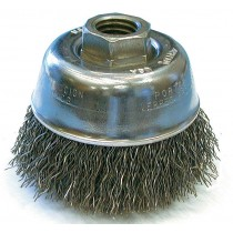 """Osborn 2-3/4"""" Stainless Steel Crimped Wire Cup Brush 6pk - 32086"""